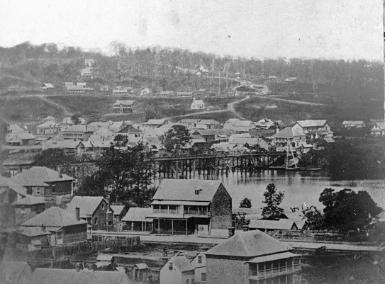 highgate hill view from Brisbane circa 1868
