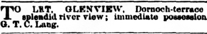 to let3 Oct 1884
