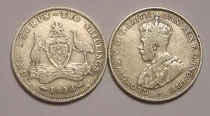 australia florin 1934
