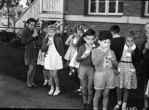 Free milk school Newmarket Queensland 1958