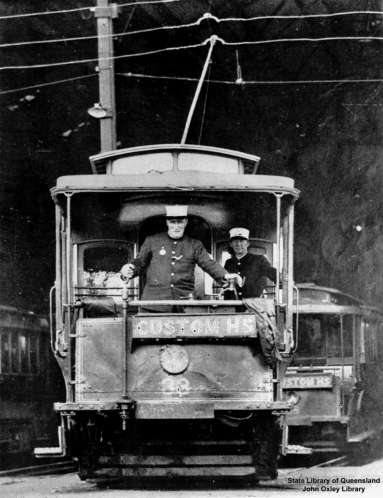 Trams in Brisbane Queensland 1930
