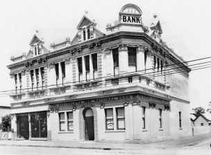 Allan and Stark's South Brisbane building ca 1901 when he was in use as a bank. (State Library of Queensland)