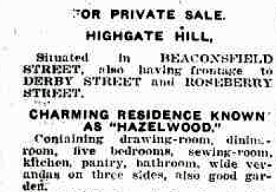 hazelwood 1925 sale