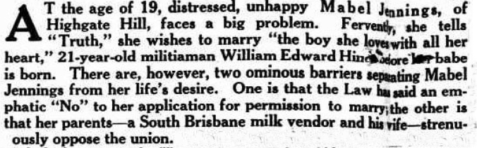 Brisbane Truth 30 November 1941(TROVE) no permission to marry