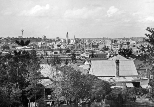 CBD from Highgate Hill November 1948 Qld Gov archives