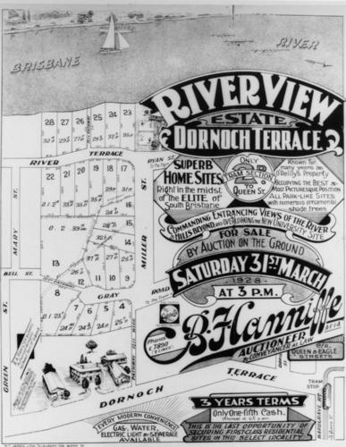 land-sale-handbill-of-riverview-estate-off-dornoch-terrace-highgate-hill-brisbane-1928