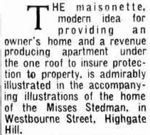 Westbourne street highgate hill 1939