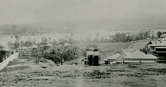 View from Highgate Hill park looking down Dornoch Terrace 1893