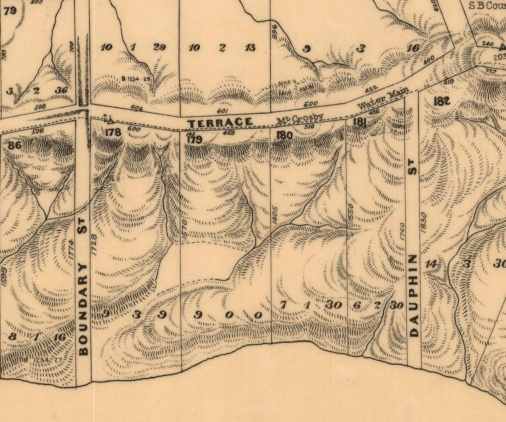sankey stret location 1914 cadastral map