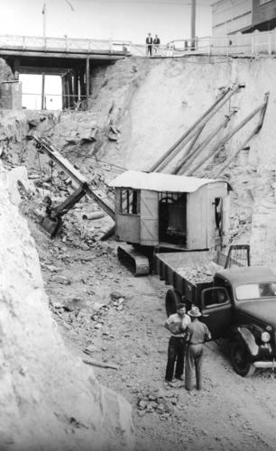 boundary street excavation 1940