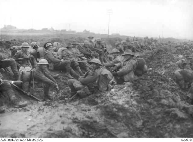 Montauban Australian troops in the mud 1926
