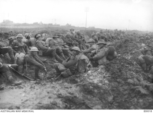 Montauban Australian troops in the mud 1926