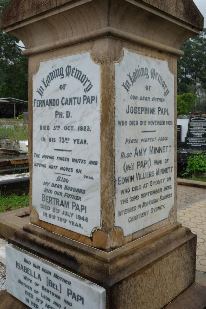 Fernando and Josephine Papi Grave