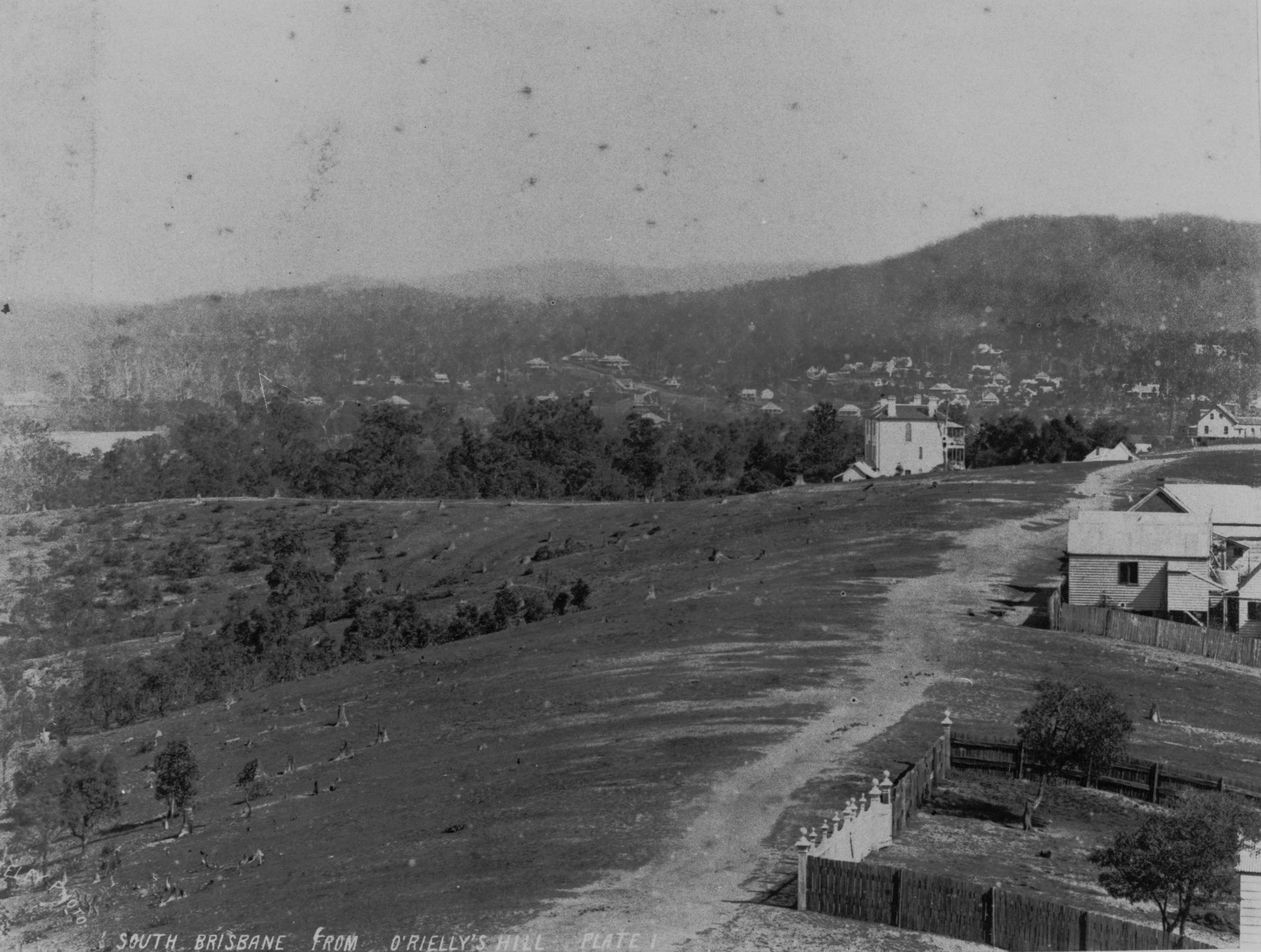 South Brisbane from ORiellys Hill 1884