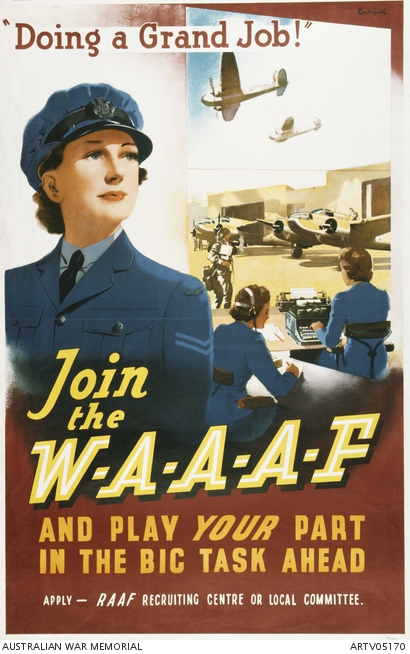 waaf recruitment poster ww2