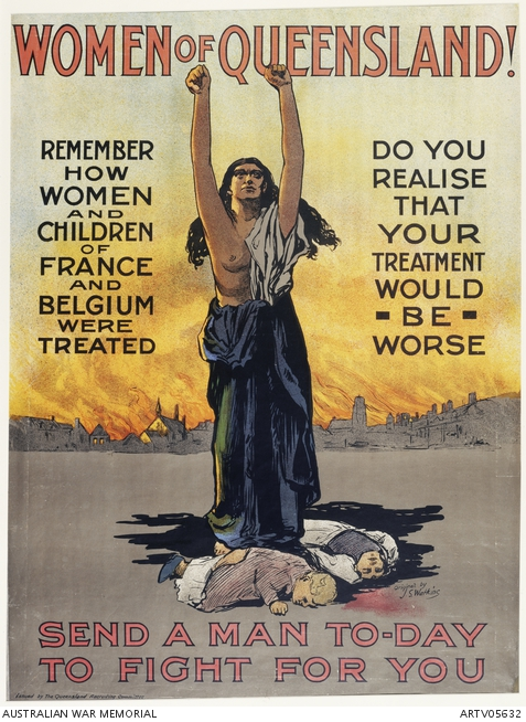 ww1 recruitment poster Queensland