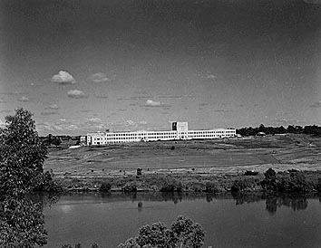 The Forgan-Smith building viewed from Highgate Hill, 1950.