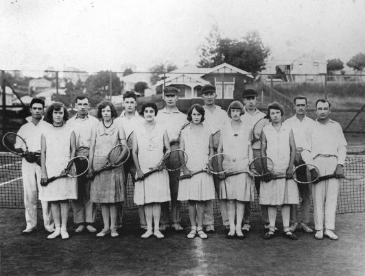 Tennis group Brisbane 1925
