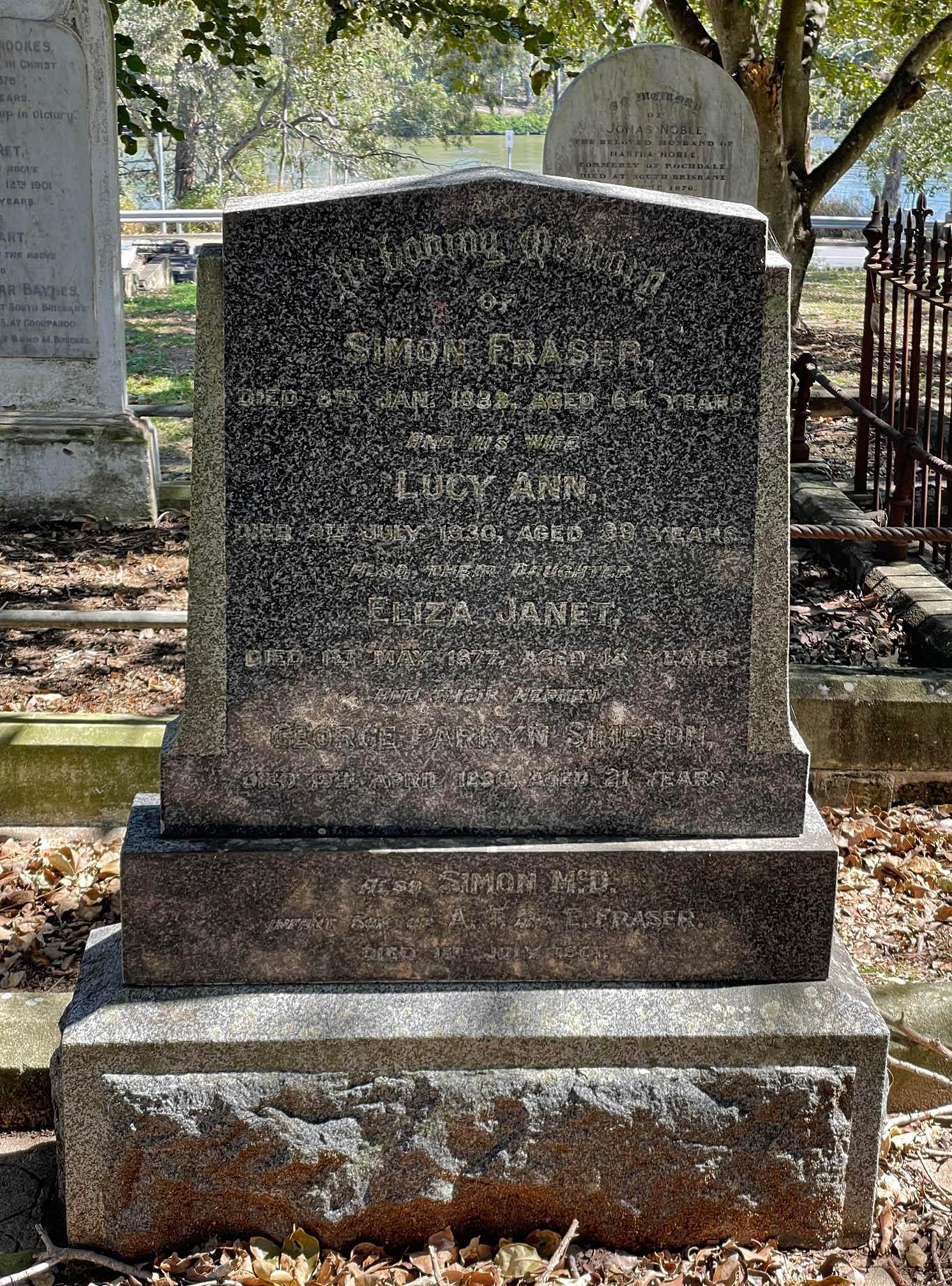 fraser grave sb cemetery