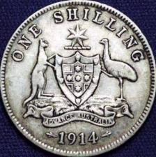 1914 Australian shilling