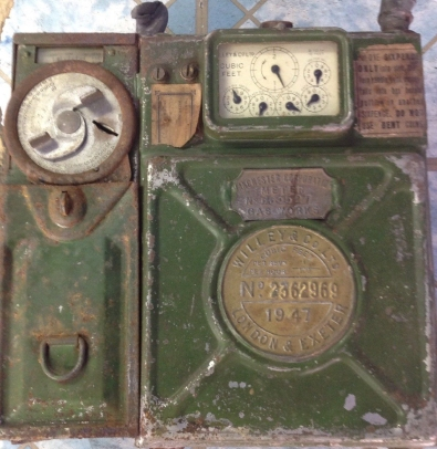 british Gas meter coin operated 1940s