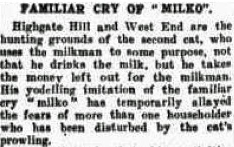 yodelling milk thief highgate hill 1938