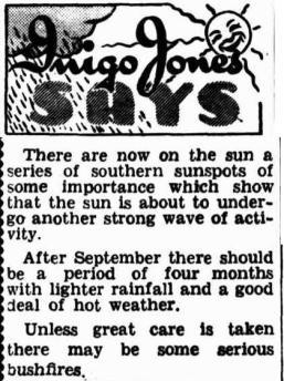 Inigo jones article sydney truth 1950