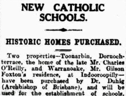Toonarbin sold 24/3/1926 Brisbane Courier