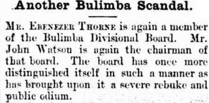 Builimba board scandal 1887
