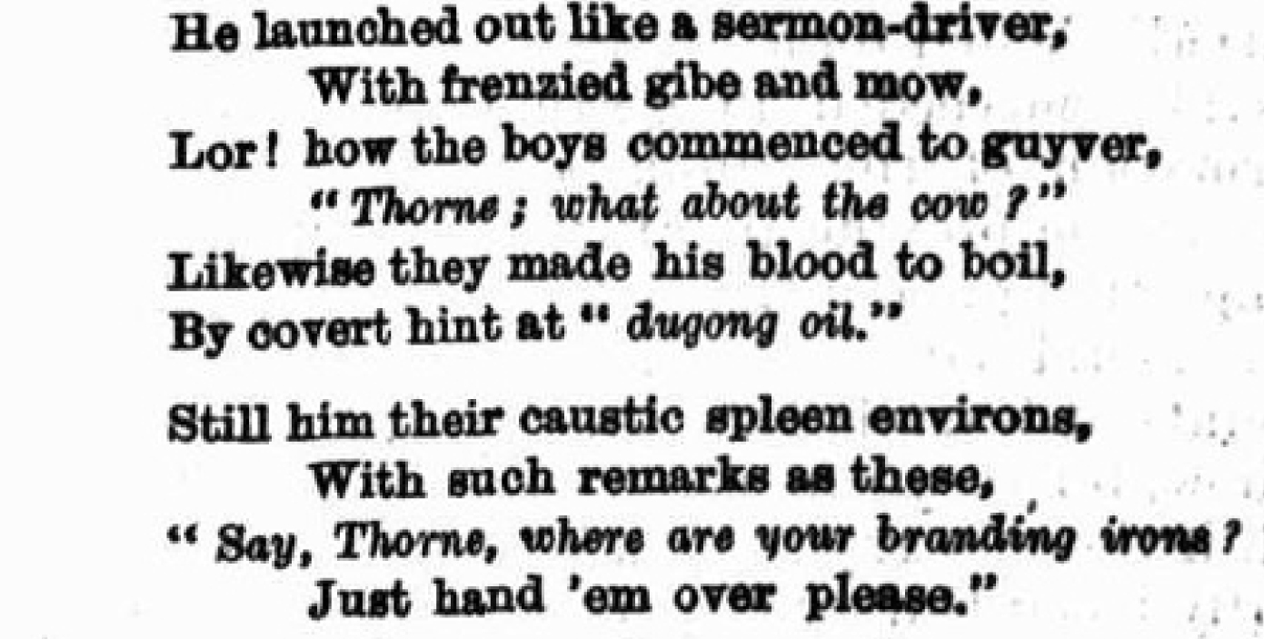 Ebenezer Thorne poem Figaro 17 March 1883