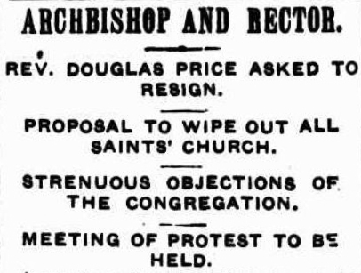 Douglas Price 1911 forced resignation