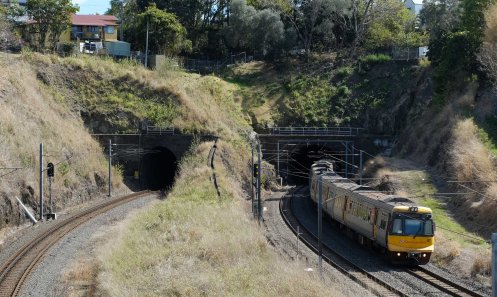 Tunnels at Gloucester Street station