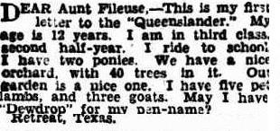 Aunt Fileuse Queenslander Stella bruce Nicol