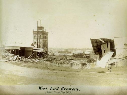 West End Brewery after floods Brisbane 1893 blog