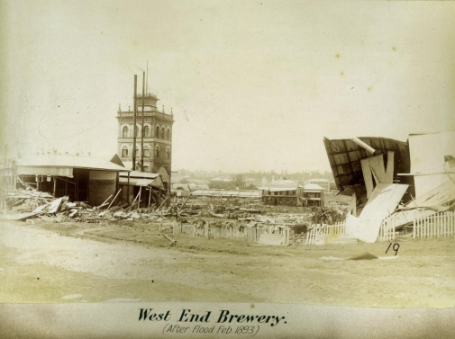West End Brewery after floods Brisbane 1893 blog