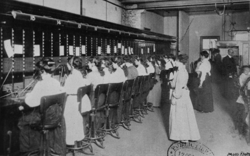 telephonists working at the brisbane central telephone exchange brisbane 1910 blog