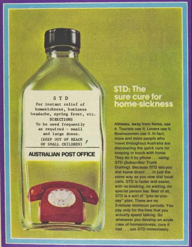 advertisement STD 1972