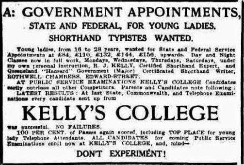 Kellys college 1913