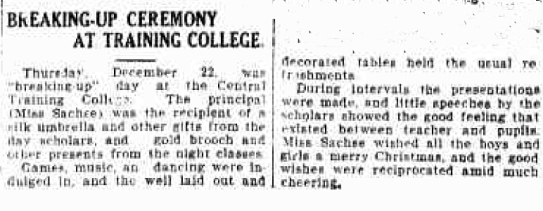 sachse college breakup 1927