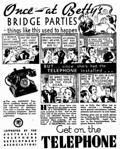 telephone ad telegraph 7 6 1937