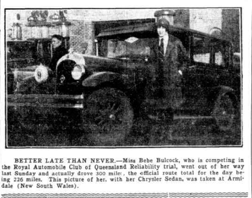 bebe  babcock and car 1928