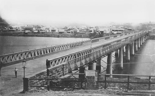First permanent bridge Brisbane 1879