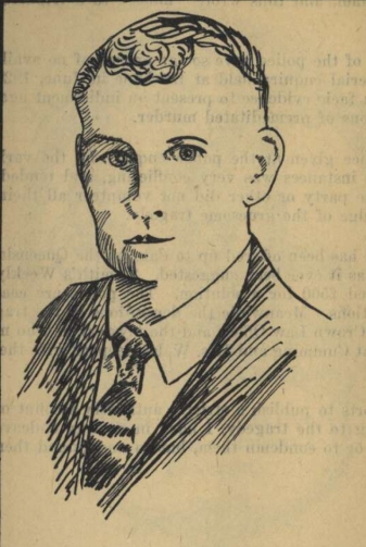 A sketch of Marquis Cumming used in newspaper articles.