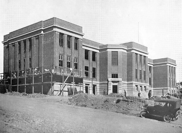 BSHS under construction 1924