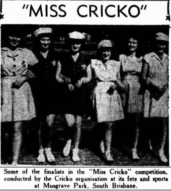 miss cricko musgrave park 1948