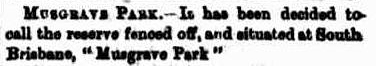 musgrave park named 1884 excerpt