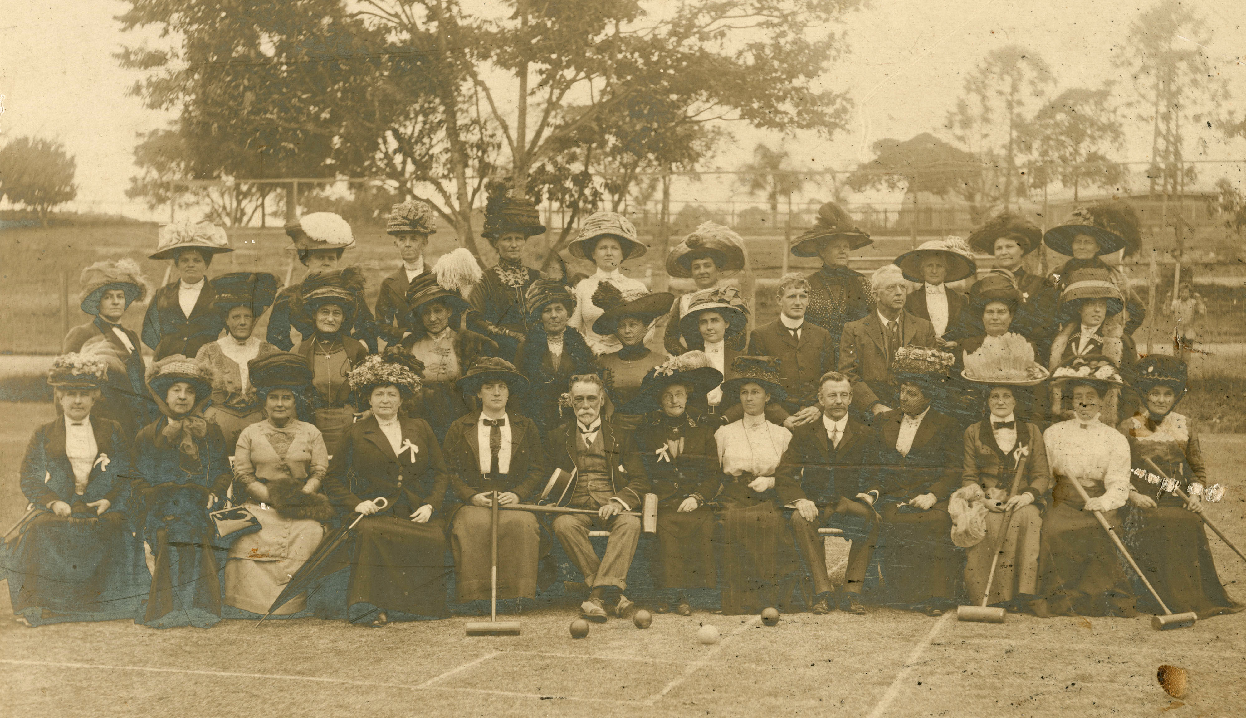 Queensland croquet players Musgrave Park South Brisbane 1911