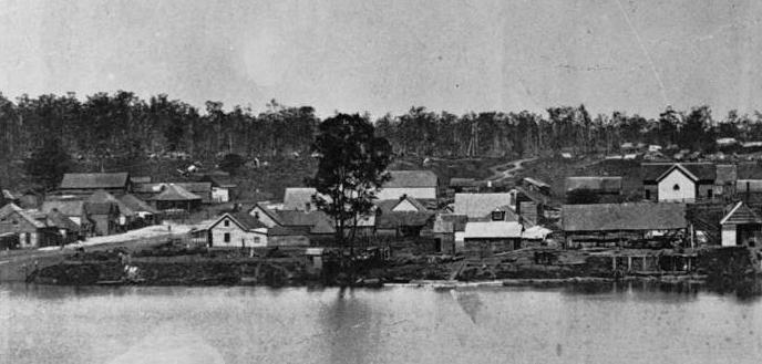 South Brisbane ca 1863