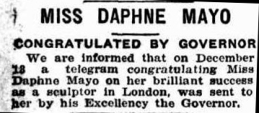 telegraph 15 dec 1923 mayo success