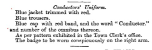 1865 by law conductor uniform